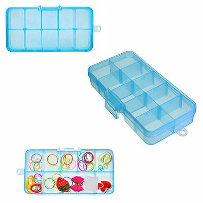Box Container 10/15 Storage Compartments Plastic Jewelry Organizer Bead Craft