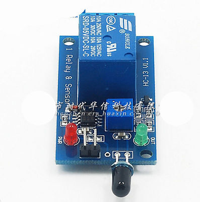12V Receiver Module Flame Sensor 2016 Relay Module Infrared Fire Detection NEW