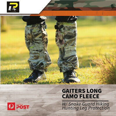 Max-Hunter Gaiters Long Camo Fleece w/ Snake Guard Hiking Hunting Leg Protection