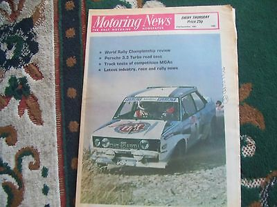 Motoring News 31 December 1981 World Rally WRC Review Porsche 911 3.3 Turbo