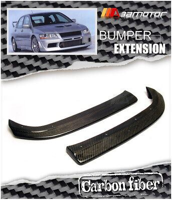 Carbon Fibre DAMD Rear Bumper Extensions for JDM Mitsubishi Evolution EVO 7 & 8