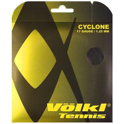 Volkl Cyclone Tennis String 1.25Mm 17G - 1 X 12M Set - Black - Rrp £12