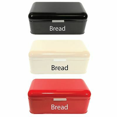 CURVED BREAD BIN Steel Kitchen Top Storage Roll Loaf Storage Box Container
