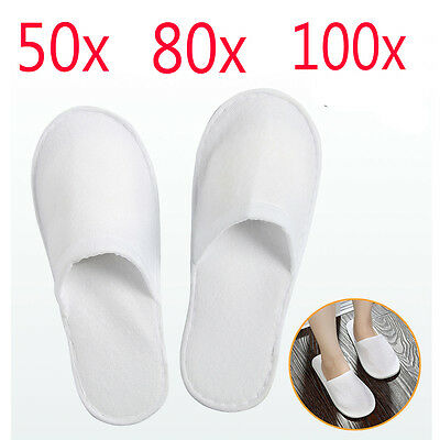 Job Lot 50 80 100 Pairs White Disposable Slippers Hotel Slippers SPA Slippers