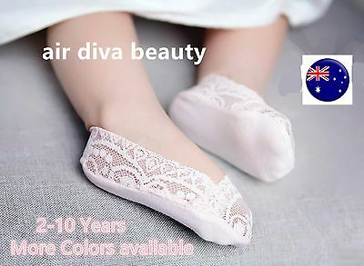 Kid Child baby Girls No Show Summer Invisible Low cut Foot Boat Lace short Socks