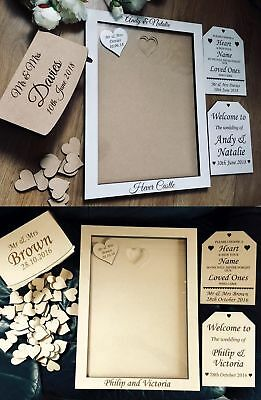 Wedding Guestbook, Drop Box Guestbook, , Wooden Guestbook , Frame A 4 , A 3