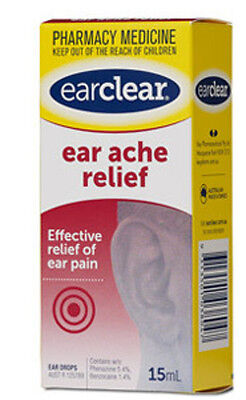 DJP NEW Ear Clear Ear Ache Relief 15mL