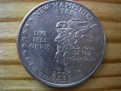 """2000p  usa state  quarter """"new hampshire"""" dollar coin collectable"""