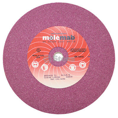 "Molemab Blade Grinding Wheel / 8"" x 1"" x 5/8"" 46 Grit / Ruby Material"