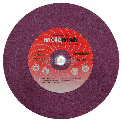 "Molemab Blade Grinding Wheel / 8"" x 1"" x 5/8"" 36 Grit / Ruby Material"