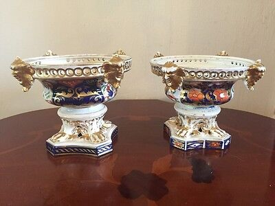 2 Stunning Crown Derby Pot Pourri Bases - Date To 1806-1925 - Stunning