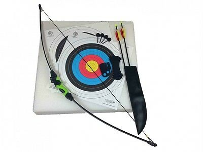 Genuine Archery Wildcat Kids Junior Recurve Bow (18lb) and Arrow Set with Target