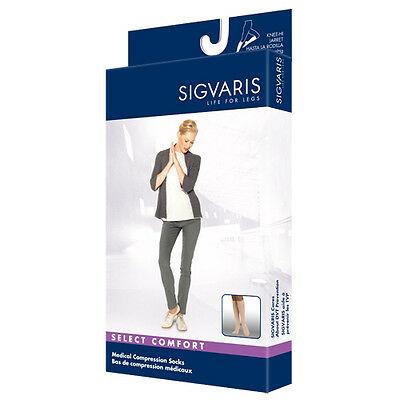 SIGVARIS 862C Select Comfort - Knee-Hi Closed Toe Compression Socks 20-30mmHg