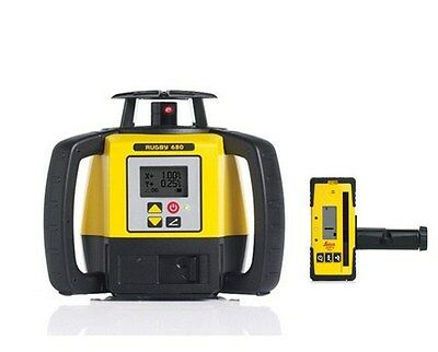 Leica Rugby 680 Dual Grade Laser Level 6006007, Tripod and 16ft Grade Rod Inches