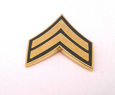 US ARMY RANK E4 CORPORAL (SUBDUED) Military Veteran Hat Pin P12751 ...
