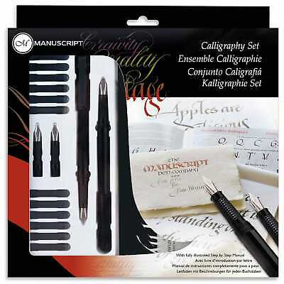 Manuscript Calligraphy Masterclass Pen Gift Set With Nibs Ink & Guide Book Mc146