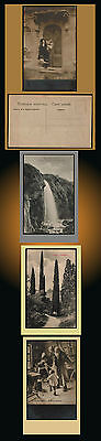 1930?  Russia Landscape Honey Waterfalls Kislovodsk Cypres Lady With Flowers Lot