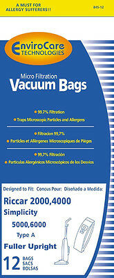12 Riccar Carpet Pro Anti-Bacterial Upright Vacuum Bags