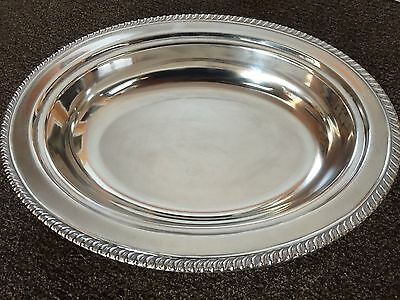 """Silver plated serving tray/bowl  11-1/2"""" x 9"""" oval by Kent Silversmiths"""