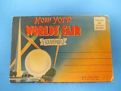 Vintage Souvenir Postcard Folder New York World`s Fair S494