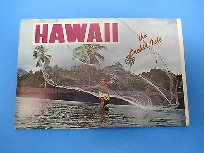Vintage Souvenir Postcard Folder Hawaii S518