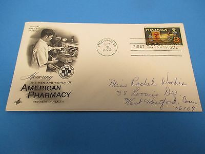 First Day Cover, Honoring the Men and Women of American Pharmacy, 1972, FDC