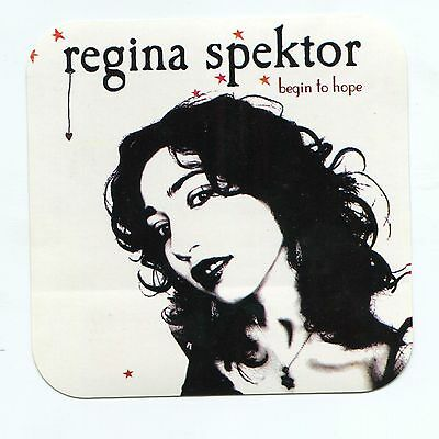 Regina Spektor Rare Sticker - Begin To Hope Promo Fidelity - Sire The Strokes