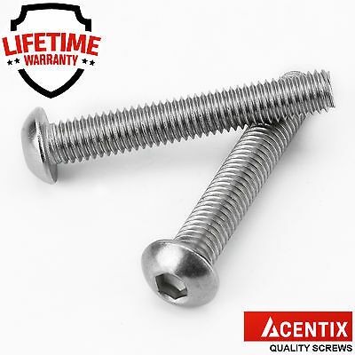 M3 M4 M5 M6 M8 A2 Stainless Hex Socket Flanged Button Head Allen Bolts Screws