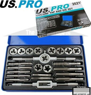 US PRO Tools 24pc UNC/UNF, Imperial, Tap And Die Set NEW 2621