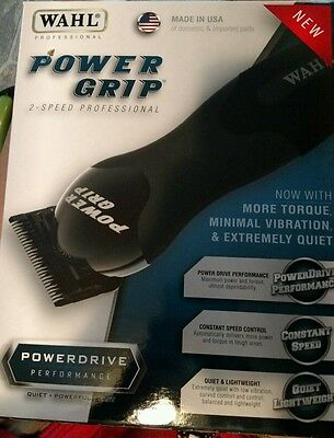 Wahl Powergrip 2-Speed Professional A5 pet dog Clipper Black