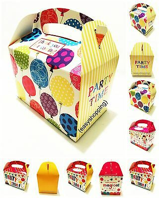 Party Boxes for Children Kids Food Loot Lunch Gift Birthday Box Bags Coloured