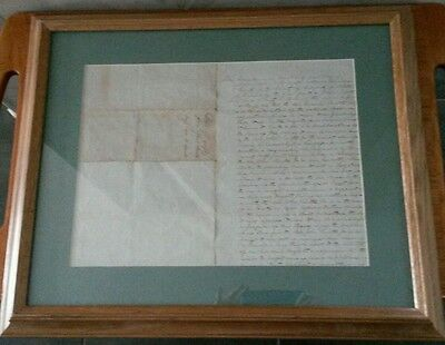 1842 Original Bedford Virginia VA Gift of Slaves Document - Trade -Identified