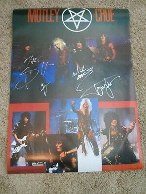 - Motley Crue Signed Poster Shout At The Devil 1983 Nikki Sixx
