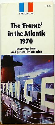 1970 SS France in the Atlantic schedules and fares brochure b
