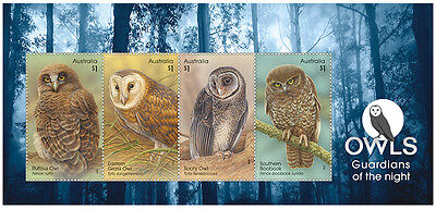 2016 Owls: Guardians of the Night - Minisheet