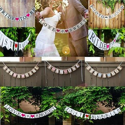 Baby Shower Wedding Party Bunting Banner Garland Photo Props Hanging Decorations