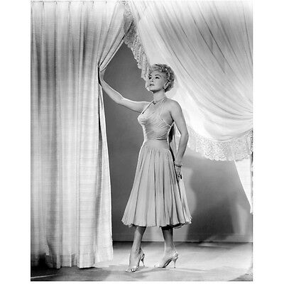 Lana Turner Standing Holding Curtain Open 8 x 10 Inch Photo