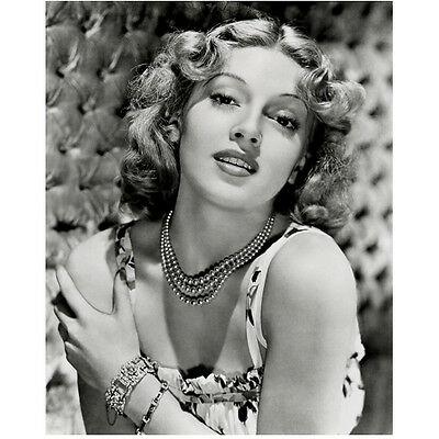 Lana Turner Looking Beautiful Holding Shoulder and Smiling 8 x 10 Inch Photo