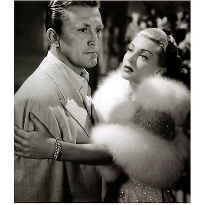 Lana Turner in Furs Holding Kirk Douglas 8 x 10 Inch Photo