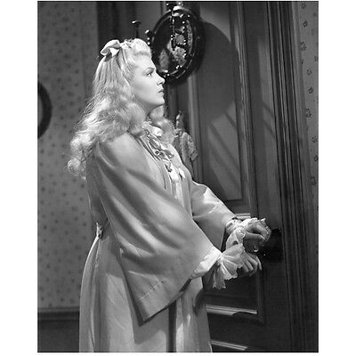 Lana Turner in Robe Holding Door Knob 8 x 10 Inch Photo