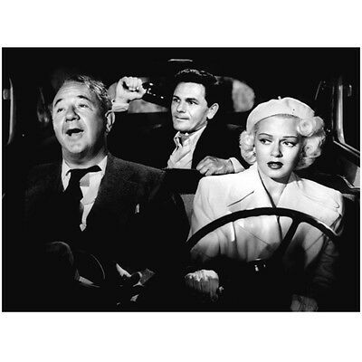 Lana Turner Driving Car with Men Looking Nervous 8 x 10 Inch Photo