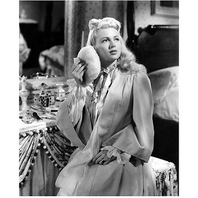 Lana Turner Powdering Up by Vanity Looking Up 8 x 10 Inch Photo