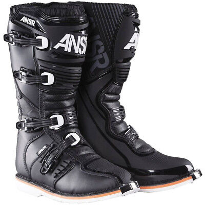 Answer 2017 Mx NEW AR-1 Adult D3O Sole Black Dirt Bike Motocross Boots
