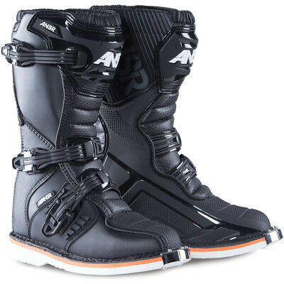 Answer 2017 Mx NEW AR-1 Kids D3O Sole Black Dirt Bike Youth Motocross Boots
