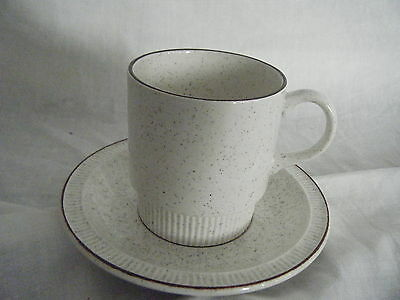 C4 Pottery Poole Light Brown Cup & Saucer 14x9cm 8A2G