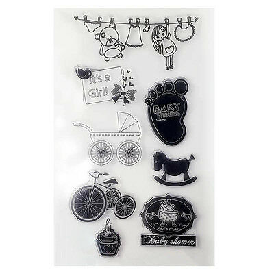 1pc SiliconeTampons transparents scrapbooking carterie clear stamps DIY Derco#