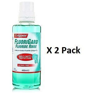 Colgate Fluorigard Alcohol Free Mouth Rinse 400ml x 2 Pack