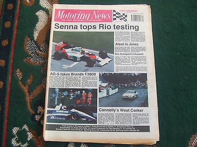 Motoring News 22 March 1989 Kuwait & West Cork Rally Otto Rensing F1 GP Preview