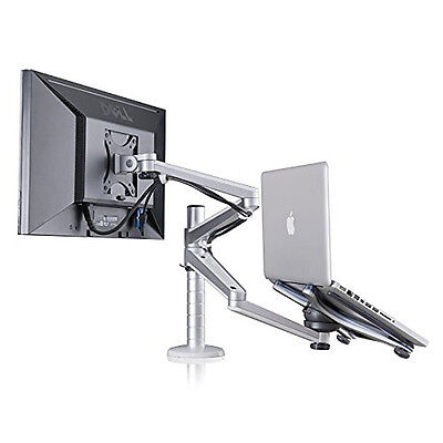 Adjustable Laptop & Monitor Dual Desk Mount Bracket