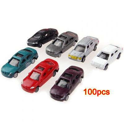 10X(100pcs Painted Model Cars Train Layout Scale (1 to 200) C200-4 BF